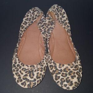 Lucky brand leopard print ballet flats size 9